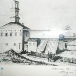 Aleksandro Zientarskio laikrodinės-oranžerijos piešinys, XIX a.
